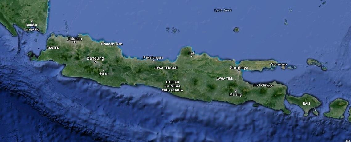 Otok Java in Bali. (vir: Google Earth)