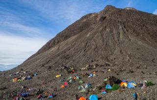 zadnji višinski tabor pred zaključnim vzponom