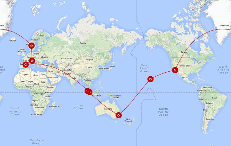 karta sveta azija NORO: iz Dunaja ali Benetk okoli sveta za samo 805€ (Azija  karta sveta azija