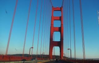 Golden Gate v sončnem zahodu